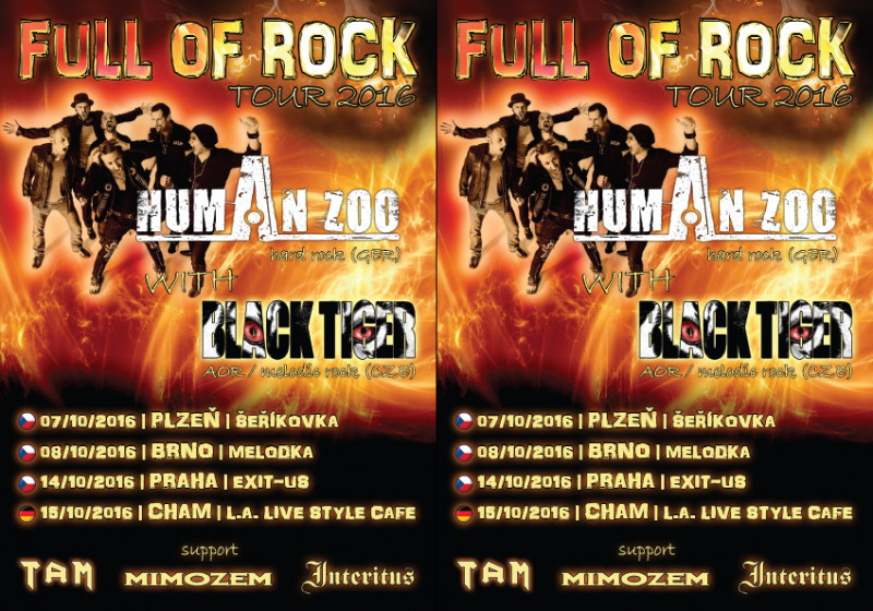 Full of Rock Tour 2016 – Human Zoo + Black Tiger + supports