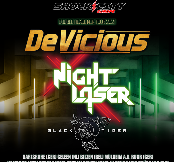 BLACK TIGER on the European tour with DEVICIOUS and NIGHT LASER